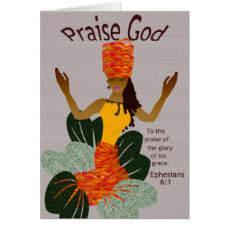 African American Greeting Card