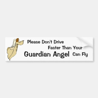 African American Guardian Angel Bumper Sticker