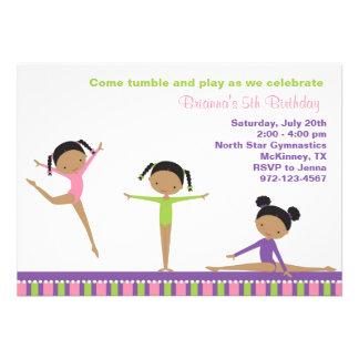 African American Gymnastics Invitations Invitation
