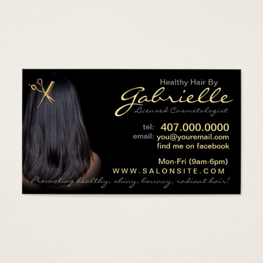 African American Hair Salon Business Cards