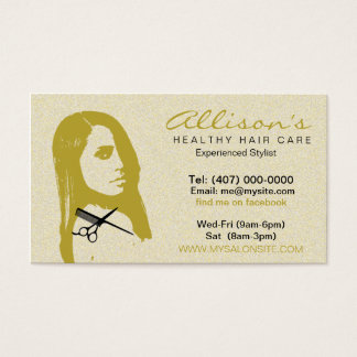 African American Hair Salon Business Cards 003
