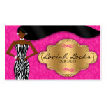 African American Hair Stylist Pink Gold Zebra Pack Of Standard Business Cards