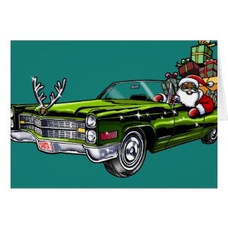 African American Hipster Santa Card
