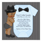 African American Little Man Baby Boy Shower Card