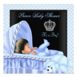 African American Little Prince Baby Shower Boy Personalized Announcements