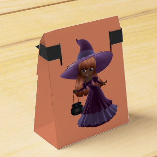 African American Little Witch Halloween Treat Favour Box