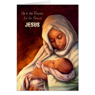 African American Madonna and Child Christmas Cards