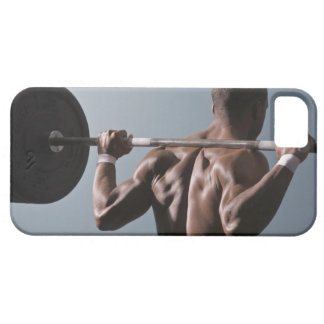 African American man working out the gym 2 iPhone 5 Case