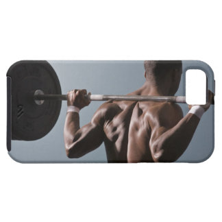 African American man working out the gym 2 iPhone 5 Cases