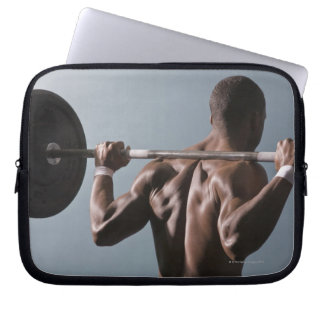 African American man working out the gym 2 Laptop Sleeve