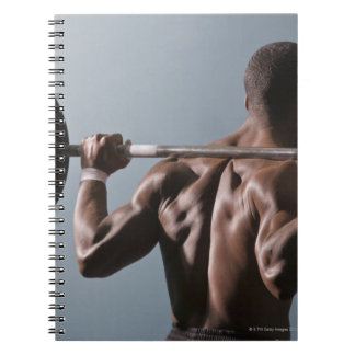 African American man working out the gym 2 Notebook