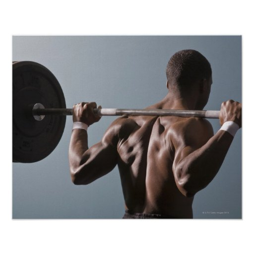 African American man working out the gym 2
