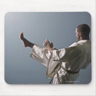 African American man working out the gym Mouse Mat