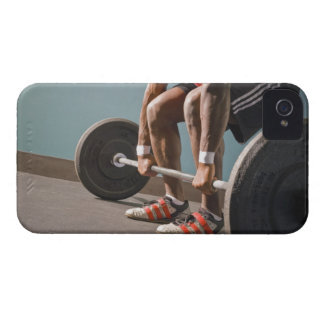 African American man working out the the gym iPhone 4 Case