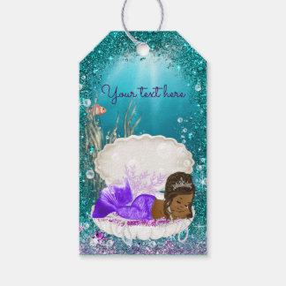 African American Mermaid Gift Tags