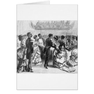 African American Military Ball Card