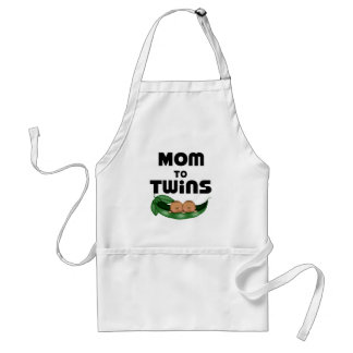 African American Mom to Twins Standard Apron