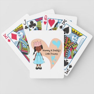 African American Mommy and Daddy's Princess Poker Cards