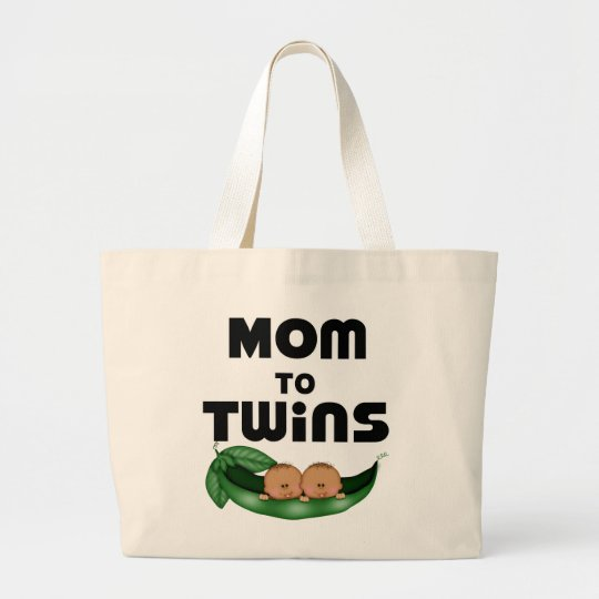 African American Mum to Twins Large Tote Bag