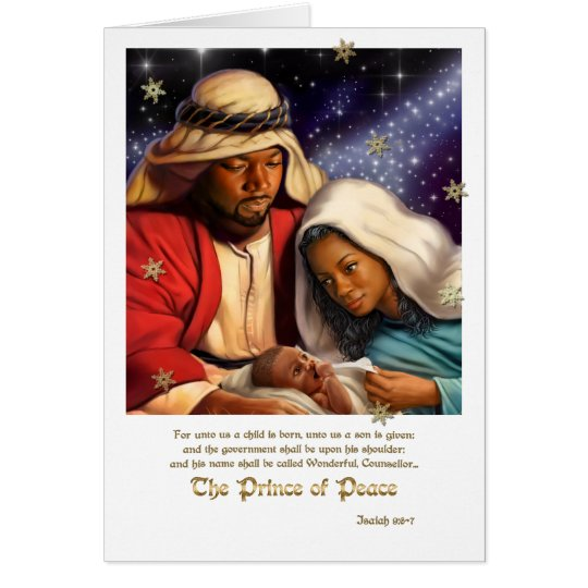 African American Nativity Art Christmas Cards