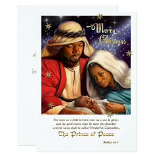 African American Nativity Art Flat Christmas Cards