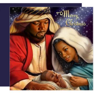 African American Nativity Art Flat Christmas Cards 13 Cm X 13 Cm Square Invitation Card