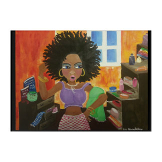 African American Natural Hair Afro Canvas Art