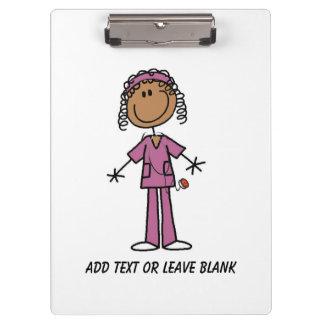 African American Nurse Clipboard