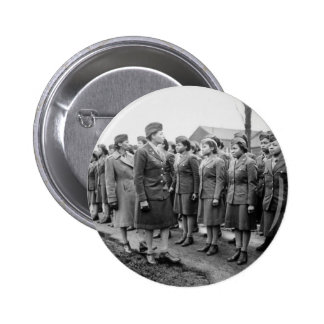 African American Office Inspects Troops 6 Cm Round Badge