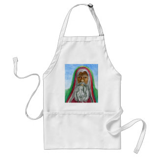 African American Old World Santa Standard Apron