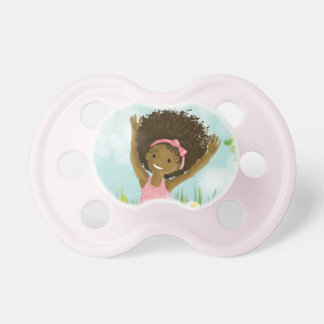 African-American pacifier for baby girl