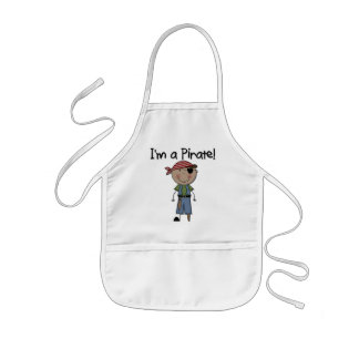 African American Pirate Boy T shirts and Gifts Kids Apron