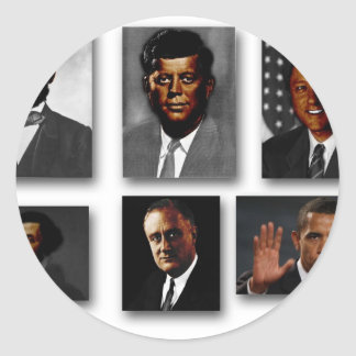 African American Presidents of the United States Round Stickers