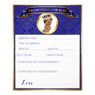 African American Prince Advice Predictions Blue 11.5 Cm X 14 Cm Flyer