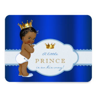 African American Prince Baby Shower 11 Cm X 14 Cm Invitation Card