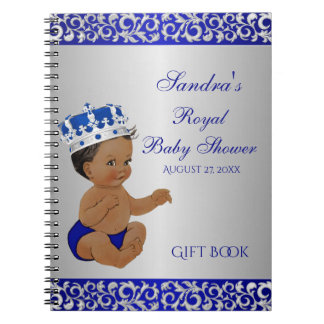 African American Prince Blue Silver Gift Guest Spiral Notebook