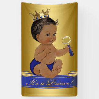 African American Prince Boy Baby Shower