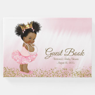 African American Princess Baby Shower Guest Book