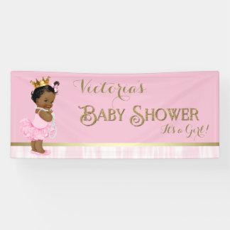 African American Princess Ballerina Baby Shower