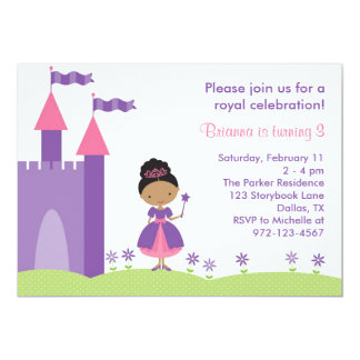 African American Princess Birthday Invitation