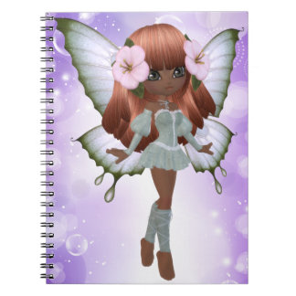 African American Princess Butterfly Notebook