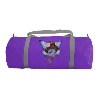 African American Princess Fairy Purple Gym Bag Gym Duffel Bag