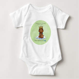 African American Princess - future Big Brother Baby Bodysuit