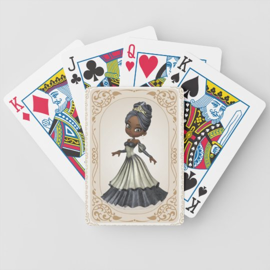 African American Princess Playing Cards
