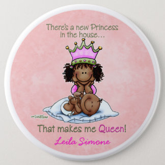 African American Queen - Big Sister 6 Cm Round Badge