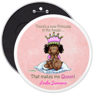 African American Queen - Big Sister 6 Cm Round Badge