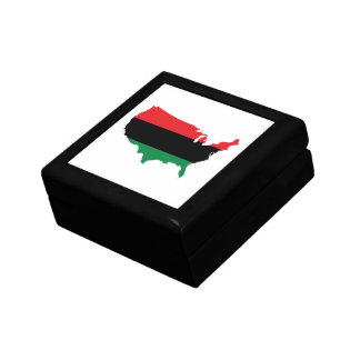 African American _ Red, Black & Green Colors Gift Box