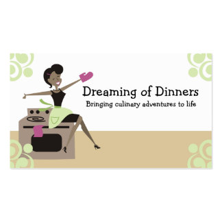 African American retro housewife cooking baking Business Card Template