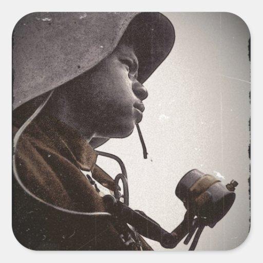 African American Rosie Riveter Square Sticker