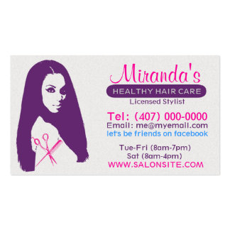 African American Salon Business/Appointment Cards Pack Of Standard Business Cards